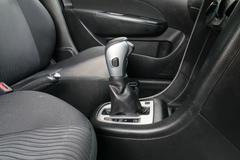 Automatic transmission gear shift. - stock photo