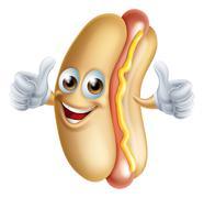 Hotdog Character Stock Illustration