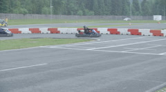 Stock Video Footage of The demonstration of cornering