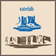 Stylized waterfalls Piirros