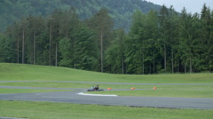 Stock Video Footage of The demonstration of cornering in slow motion