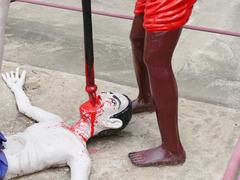 Tortured man statue Stock Photos