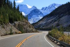 Icefields parkway - stock photo