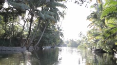Kerala Back water Lake 21 Stock Footage