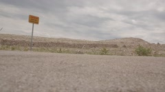 Pane column at a desert landscape at summer on holiday with a lonely road Stock Footage