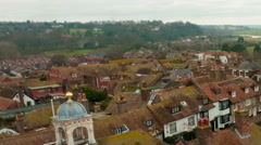 Panning time-lapse of the rooftops of Rye, East Sussex, England. Stock Footage