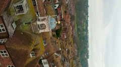 Vertical time-lapse of the rooftops of Rye, East Sussex, England. Stock Footage