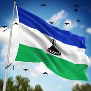 Flag of Lesotho - stock illustration