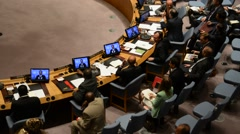 Security Council chamber United Nations Headquarters Stock Footage