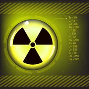 Radiation warning symbol Stock Illustration