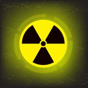 radiation warning symbol vector - stock illustration