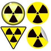radiation warning symbol - stock illustration