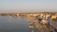 Danube aerial view Stock Footage