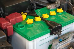 Battery of a car Stock Photos