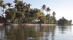 Kerala Back water Lake 17 Stock Footage