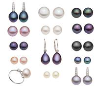 Catalog of diferent pearl type Stock Photos
