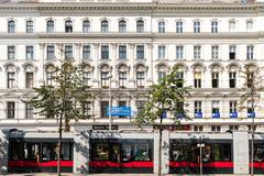 Neoclassical Vintage Architecture In Vienna Stock Photos