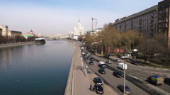 Moscow River in downtown Stock Footage