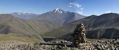 Caucas mountines range from Russia to Azerbijan - stock photo