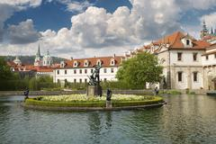Stock Photo of walleinstein palace at central Prague famous turistic place