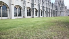 The Jeronimos Monastery in Belem quarter, Lisbon Stock Footage