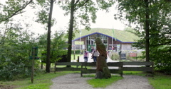 Entrance National Park Netherlands Stock Footage