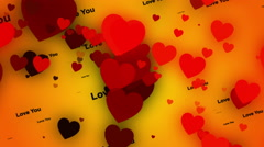 wedding background, particles hearts, loop - stock footage