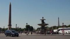 Luxor Obelisk Place de la Concorde, Paris Stock Footage