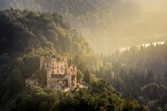 Hohenschwangau castle at Fussen Bavaria, Germany - stock photo