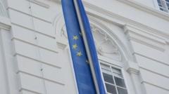 Stock Video Footage of City Vienna, EU flag