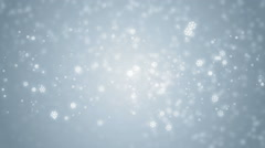 Beautiful blue winter background with snowflakes. Stock Footage