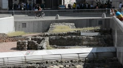 City Vienna, archaeological site Stock Footage