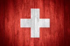 Switzerland flag - stock illustration