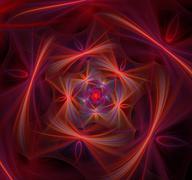 Spiral abstract fractal background - stock illustration