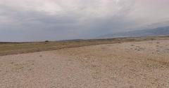 4K aerial shot DJI phantom 3 above desert Stock Footage
