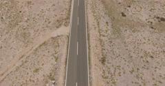 4K aerial shot DJI phantom 3 above an empty road, freeway by traveling - stock footage