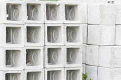 Precast concrete drains. Stock Photos