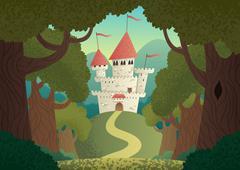 Castle Landscape - stock illustration
