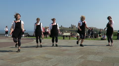 Dancers at the Whitby Folk Festival Stock Footage