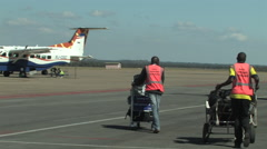 Lusaka International Airport, LUSAKA, ZAMBIA Stock Footage