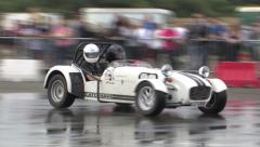 White Caterham donut Stock Footage