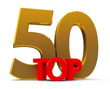 Top 50 - stock photo