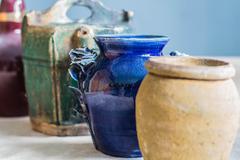 Vase old storage room. Stock Photos