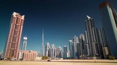 Summer dubai city business bay panorama 4k time lapse uae Arkistovideo