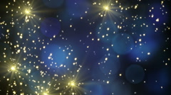 Flying sparklers loopable holidays background Stock Footage