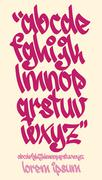 Graffiti alphabet - Handwritten - Vector lowercase font Stock Illustration
