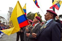 Changing of the Guard in Quito, Ecuador Stock Photos