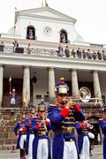 Changing of the Guard, Presidential Palace, Quito, Ecuador Stock Photos