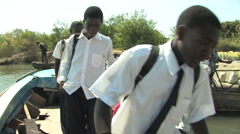 Zambian River Crossing Stock Footage