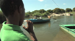 Zambian River Crossing Stock Footage
